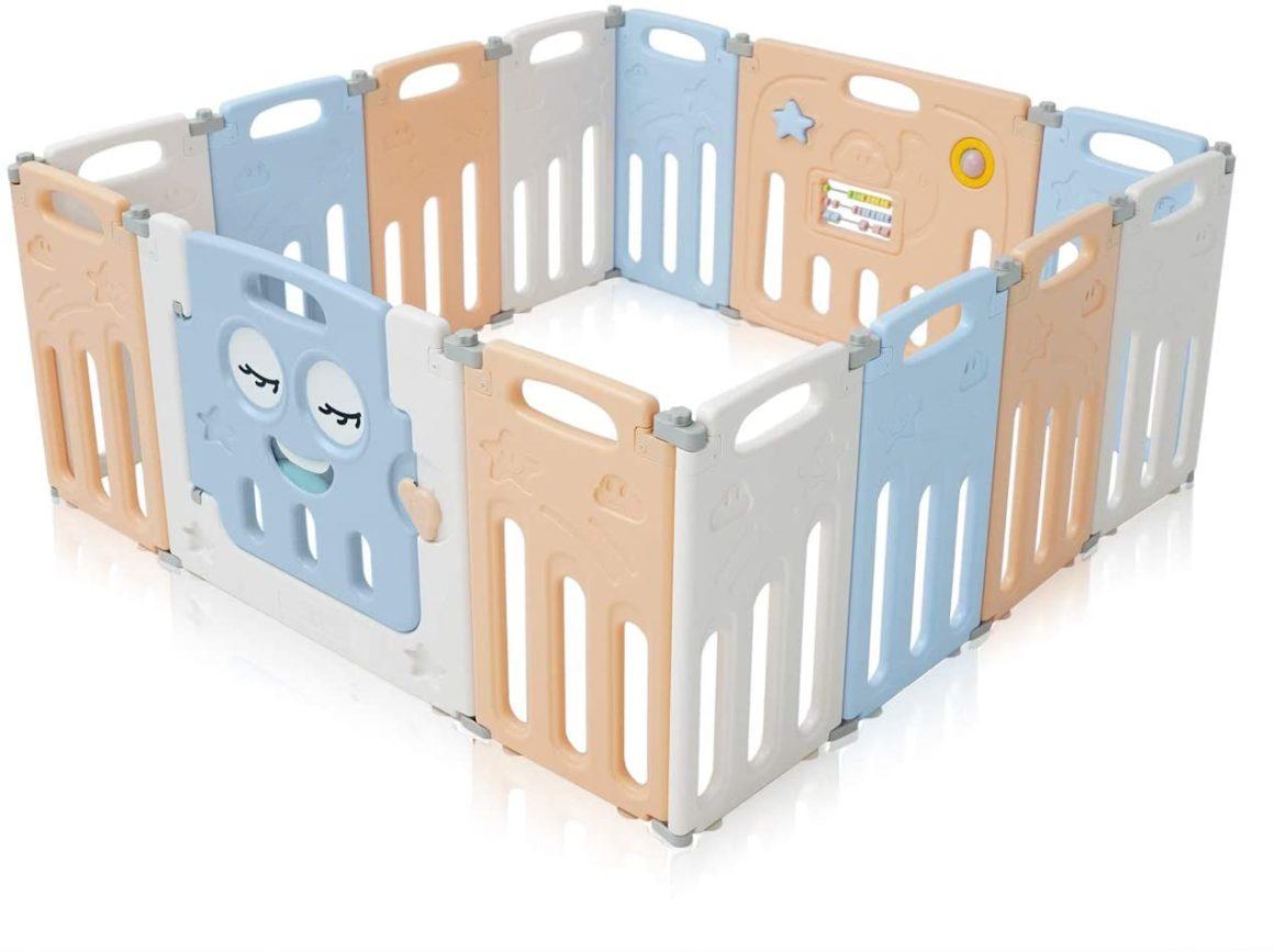Barrière de sécurité pliable pour espace de jeu enfant de Baby Vivo