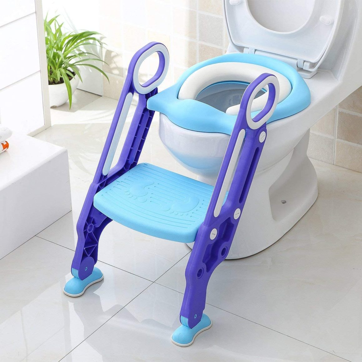 Réducteur de toilette enfant pliable et réglable de Bamny