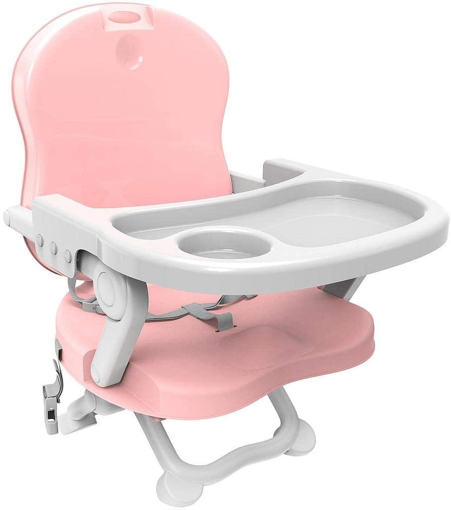 Réhausseur de chaise bébé rose de Todeco