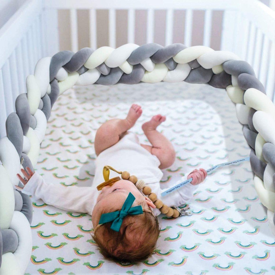 Tour de lit bébé tresse de Vinggood