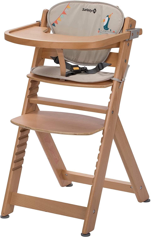Chaise haute bébé évolutive en bois de Safety 1st
