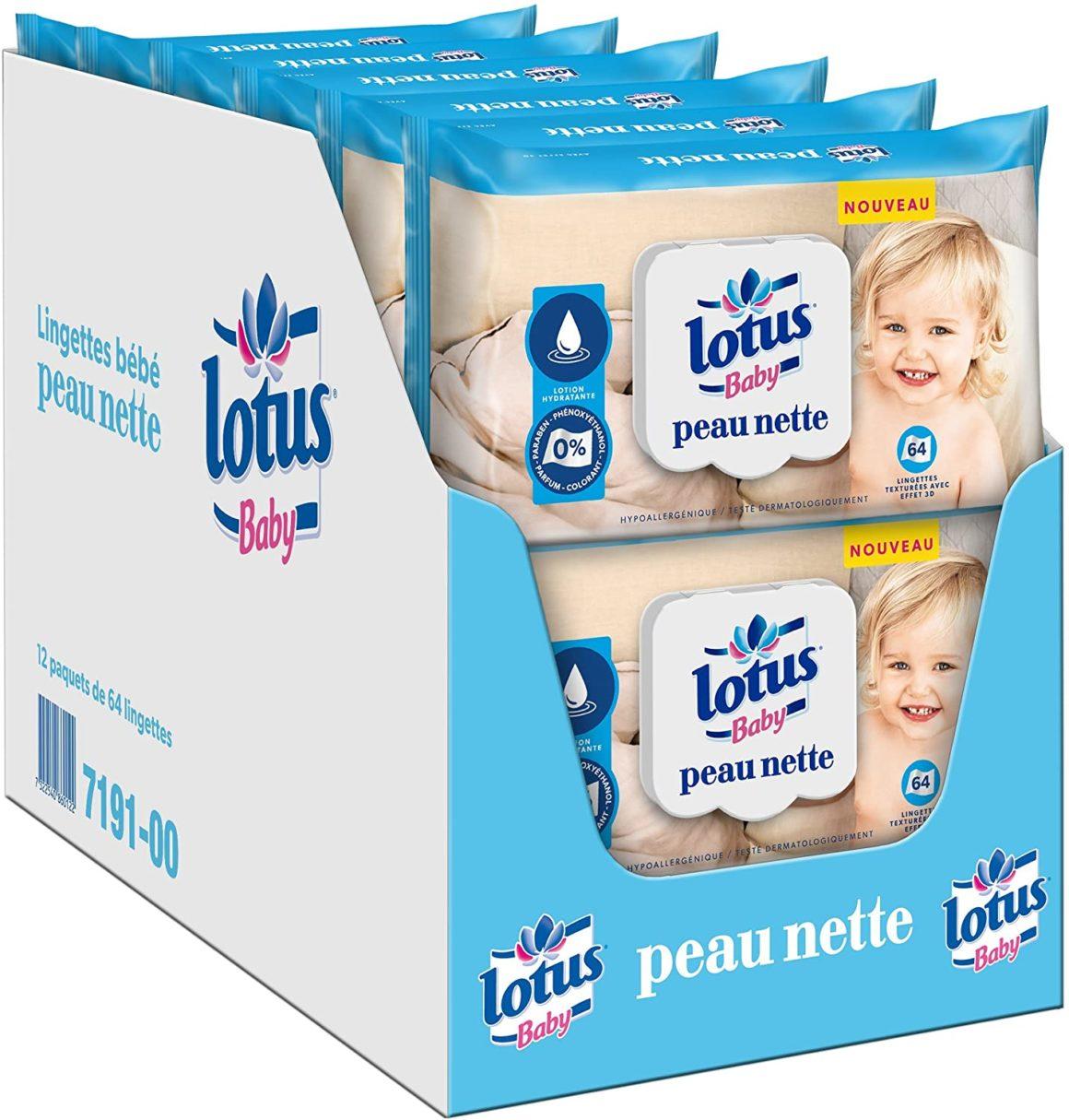 Lingette bébé Lotus