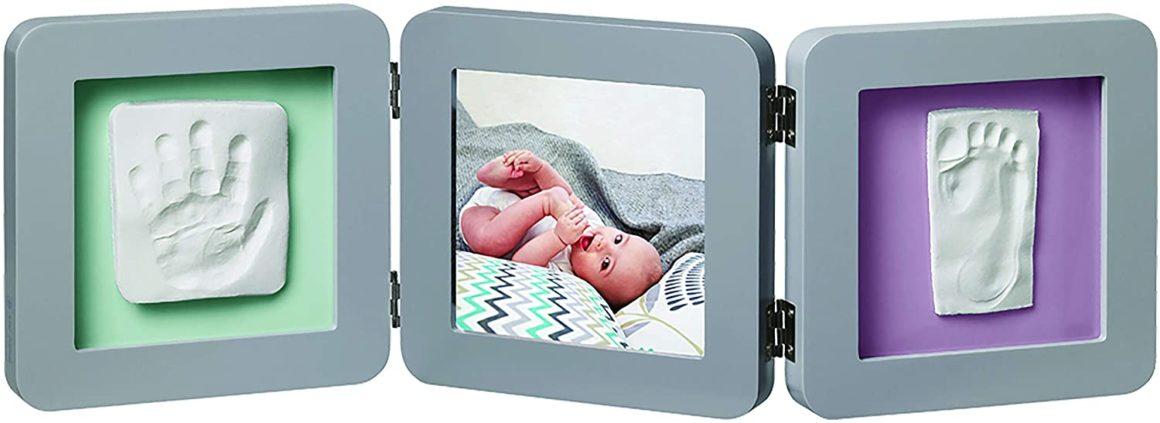 Baby Art Kit de Moulage et d'Empreintes Modern Double Print Frame Gris