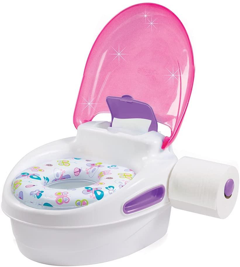 Pot bébé toilette rose pour fille